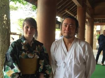 水本先生とJohanna Korhonen(ヨハンナ・コルホネン)さん(左)