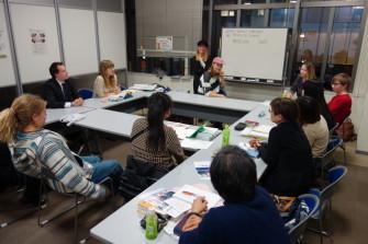 秋口恒例新留学生へのインタビューと自由会話