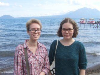 左Olgaさん、右同時期留学生していたRiinaさん